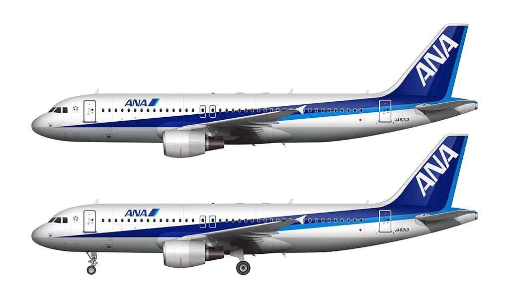 ANA A320 livery