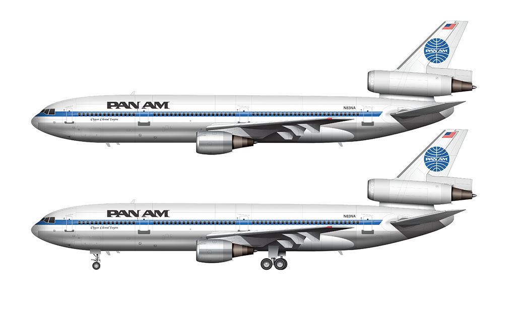 Pan Am livery on the DC-10-30