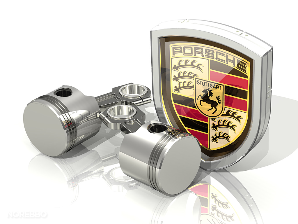 3d Porsche logo