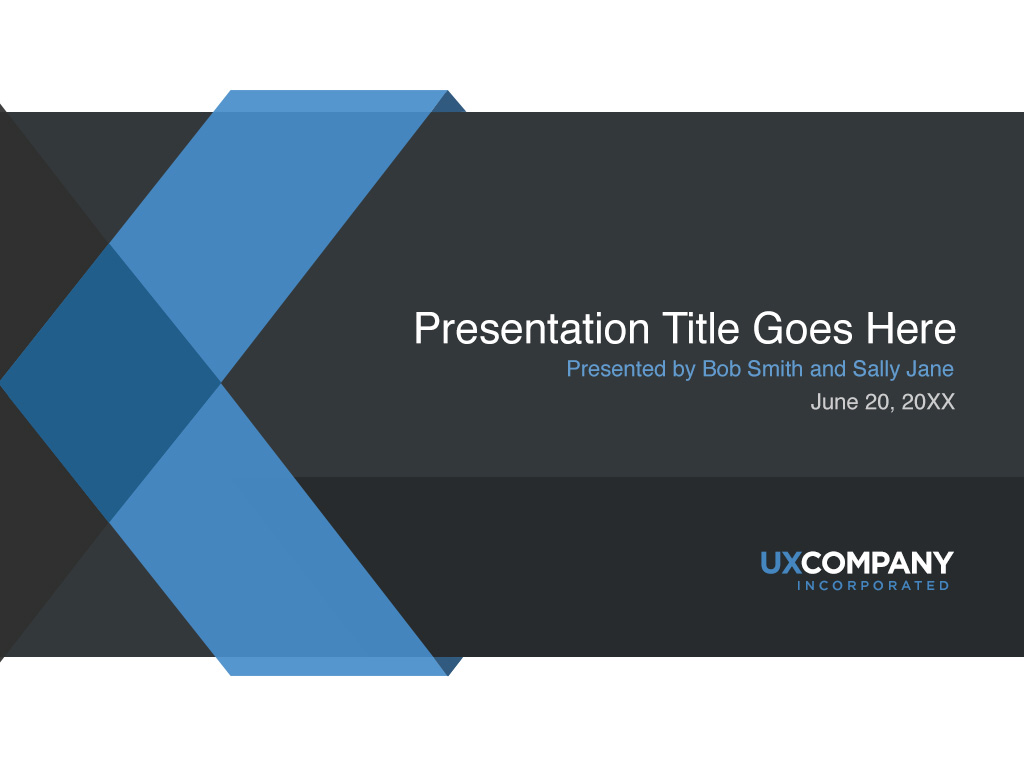 ux powerpoint presentation cover template – norebbo, Presentation templates