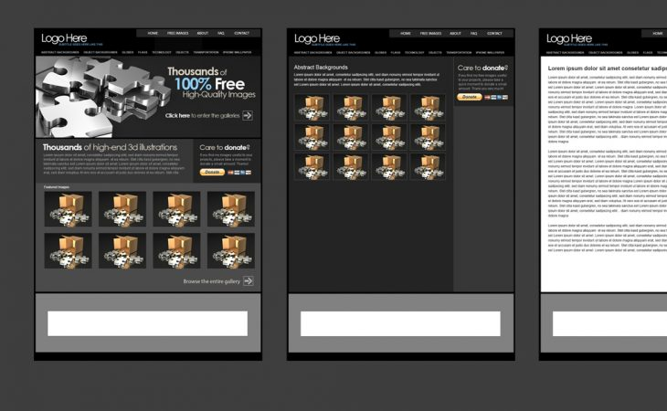 Website template preview
