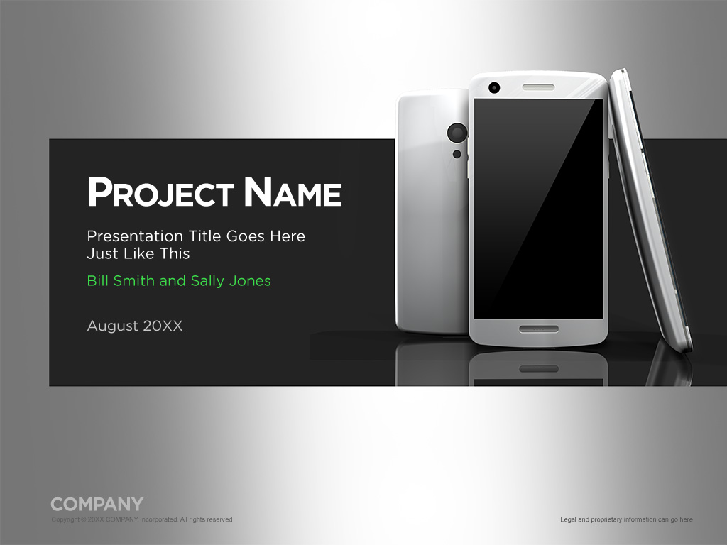 Presentation templates norebbo silver and gray smartphone template screenshot toneelgroepblik