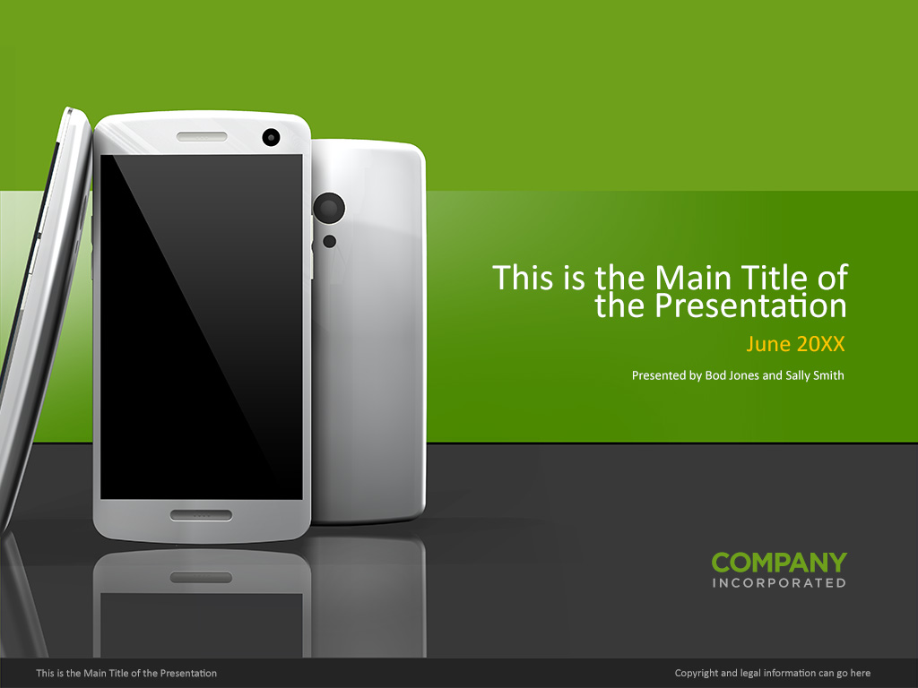 smartphone powerpoint cover template – norebbo, Presentation templates
