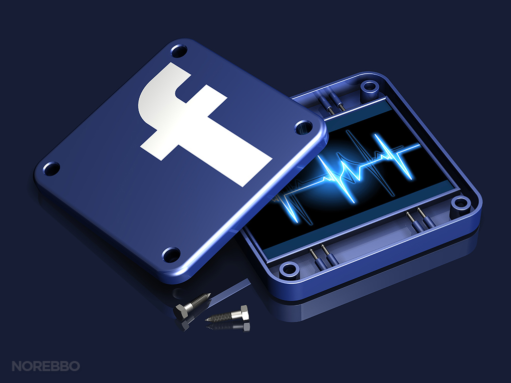facebook stats illustration