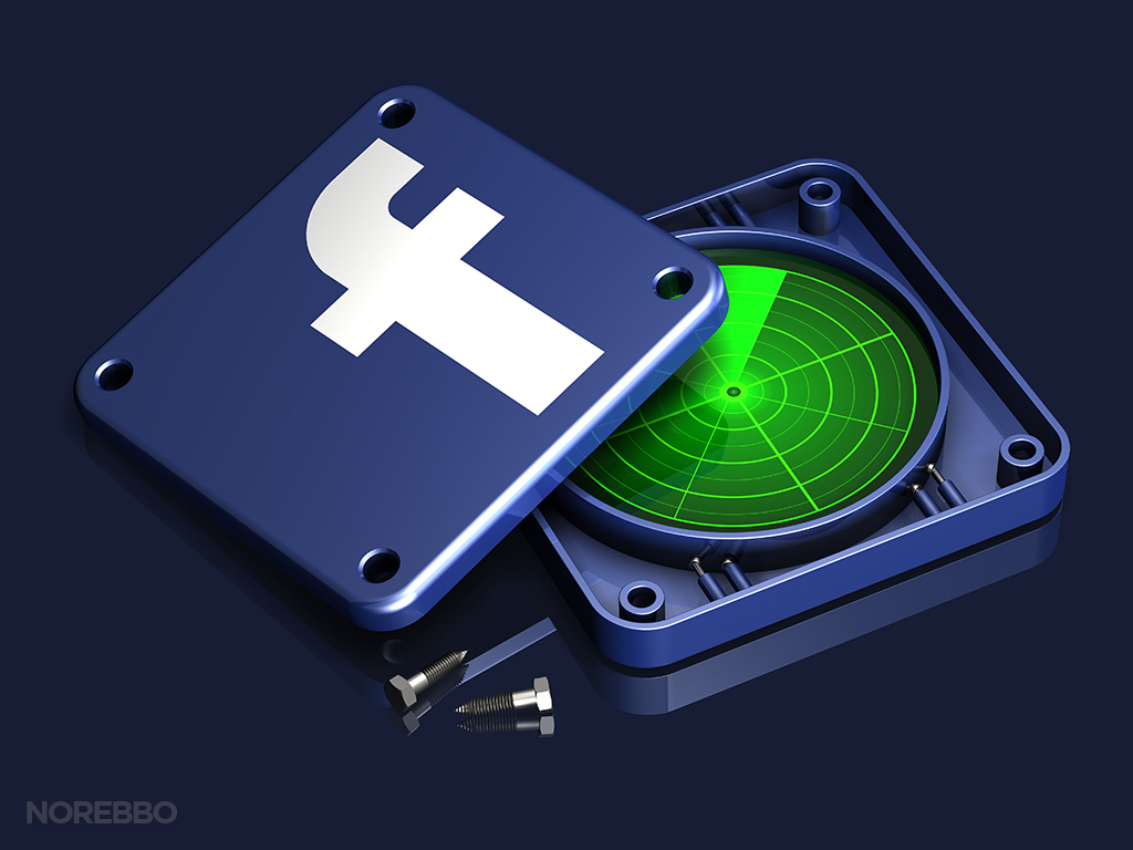 facebook search illustration