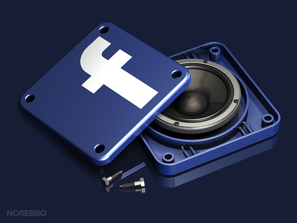 facebook audio illustration