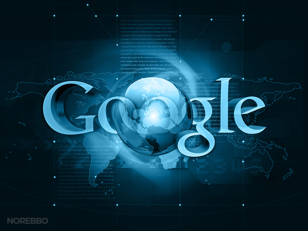 google logo and globe illustration