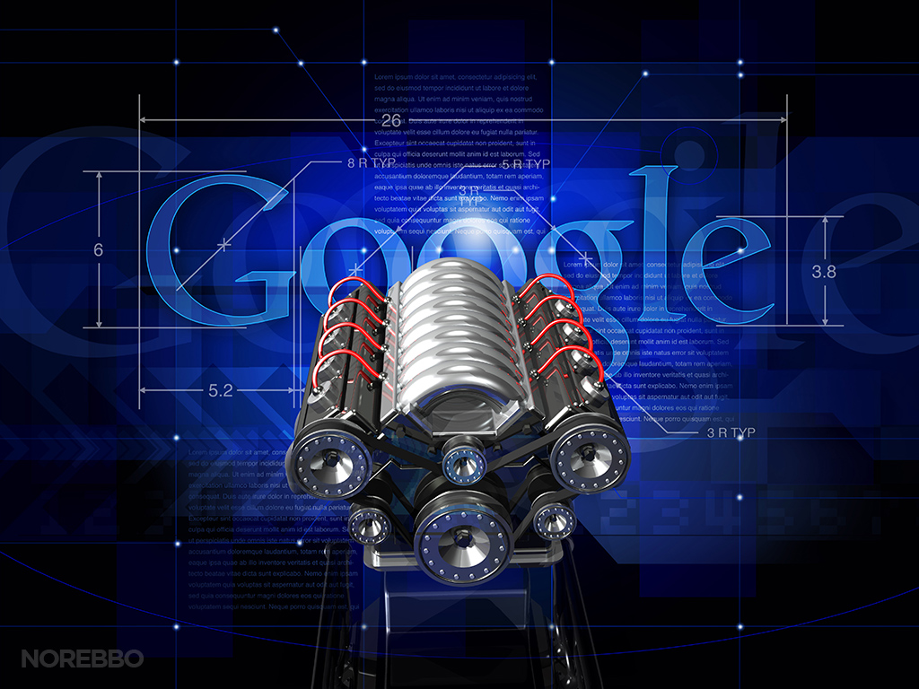 screenshot of a Google search engine illustration