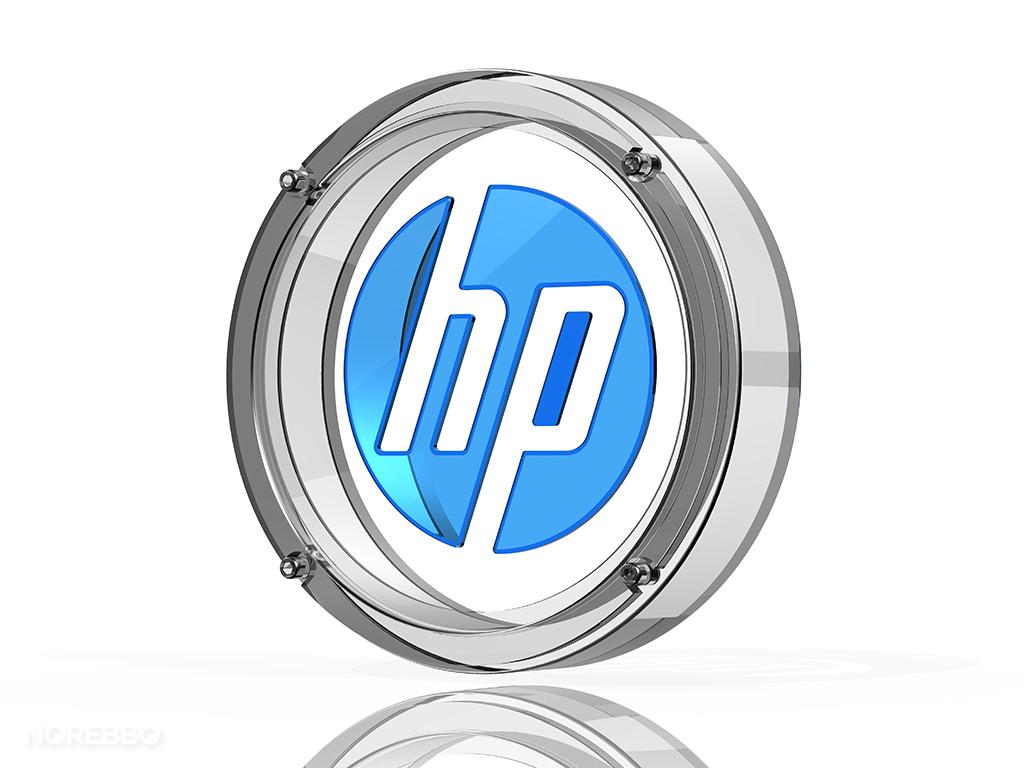 glass HP logo