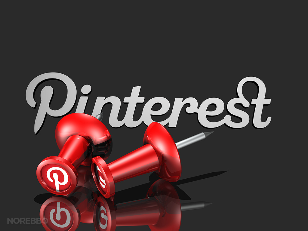 red pinterest pins and logo