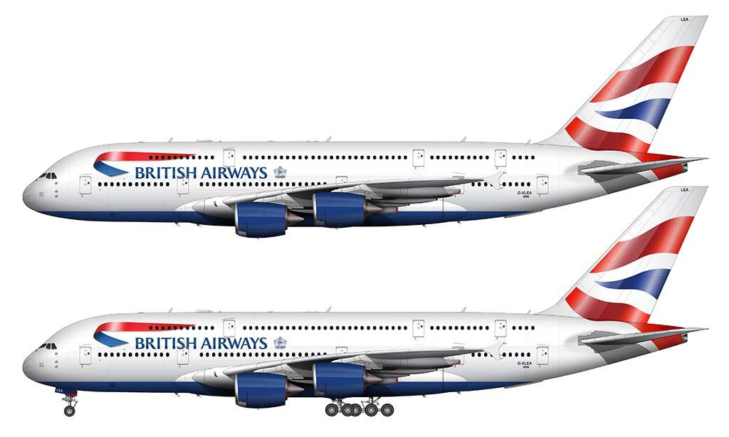 Airbus A380 British Airways livery