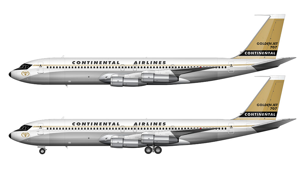 Continental Airlines Golden Jet livery