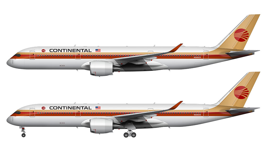 Continental Airlines A350-900