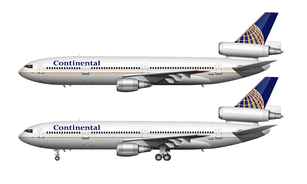 Continental Airlines Globe livery