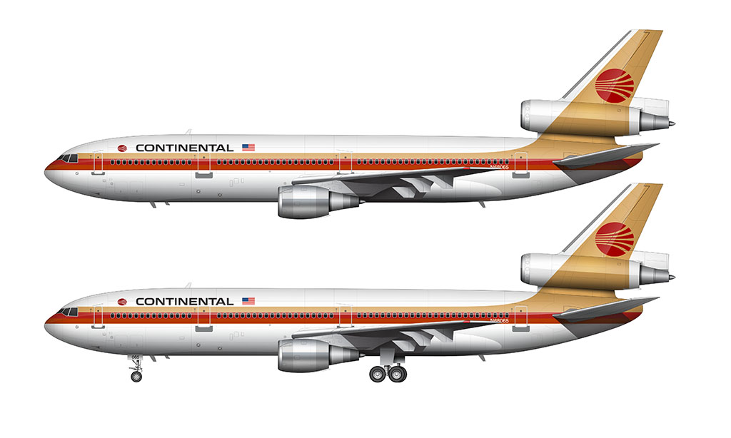 Continental Airlines Meatball livery
