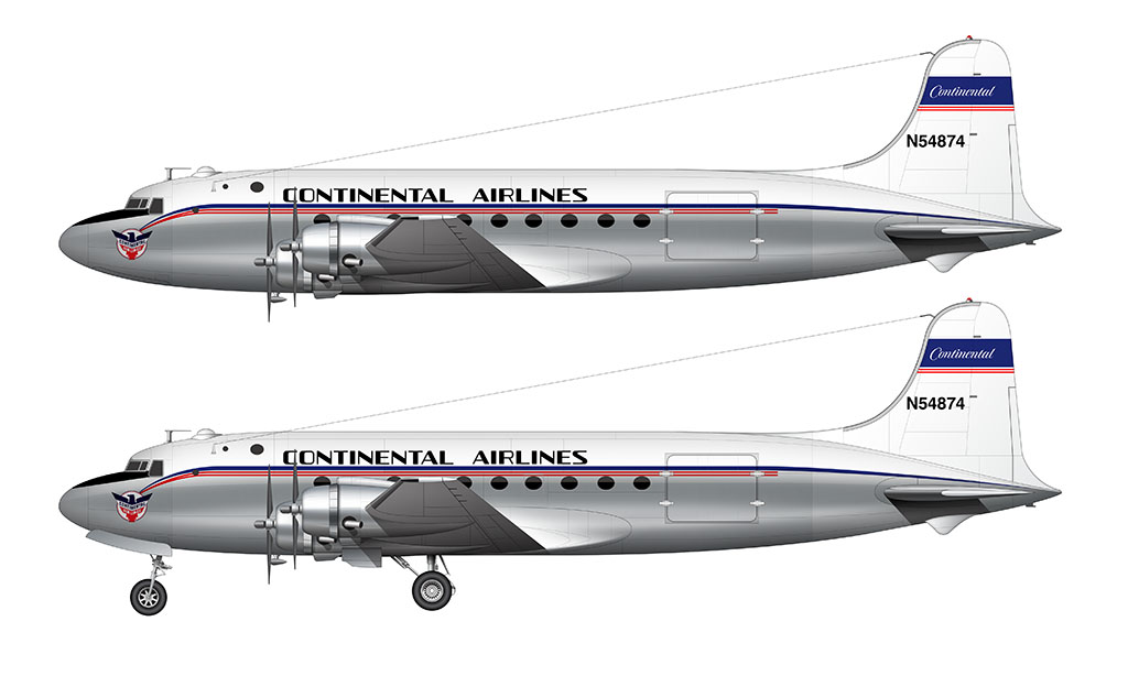 Continental Airlines DC-4
