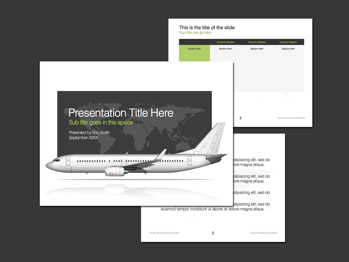 Commercial aviation PowerPoint template