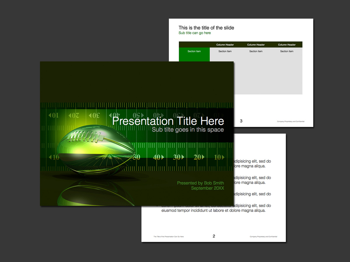 American Football Powerpoint Template Norebbo