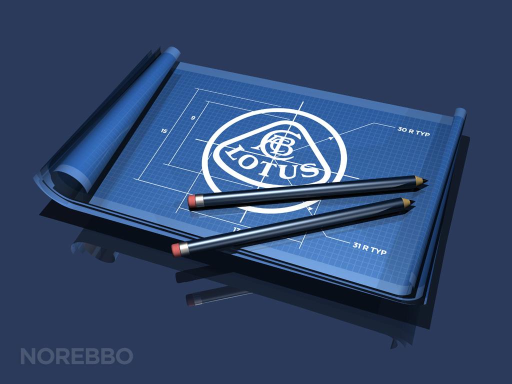 lotus logo blueprint