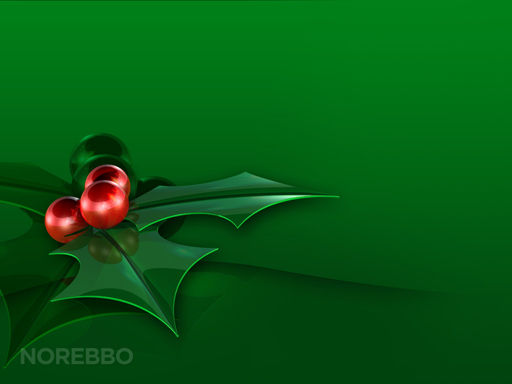 Green holly leaves background