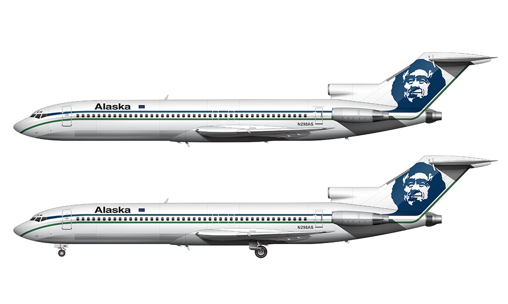 Alaska Airlines 727 livery
