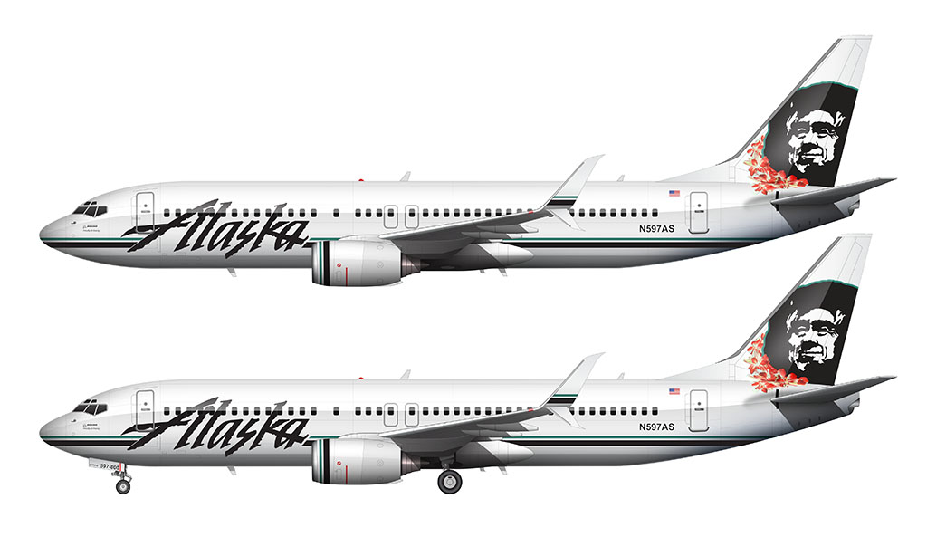 Alaska Airlines Lei livery