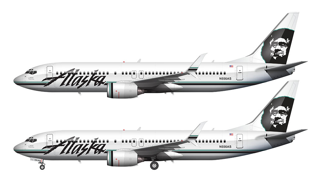 Alaska Airlines Icicles livery