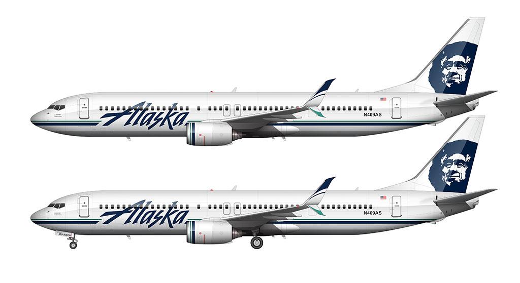 Alaska Airlines 737-900/ER 2015 updated livery