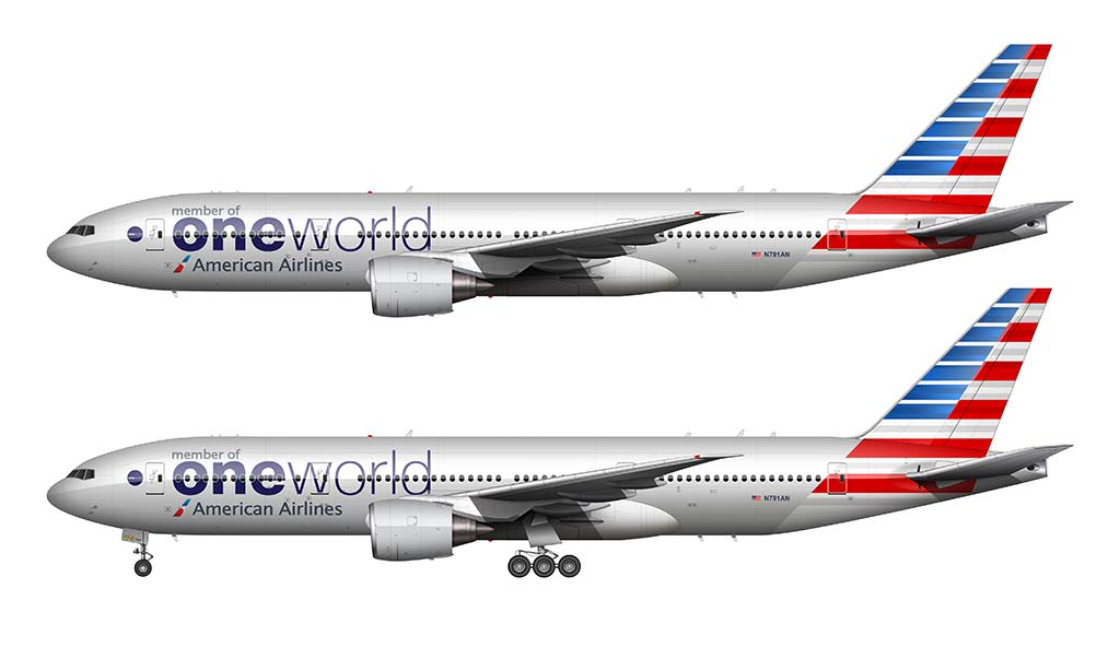 American Airlines One World livery