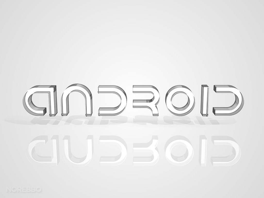Android logo over a light gray background