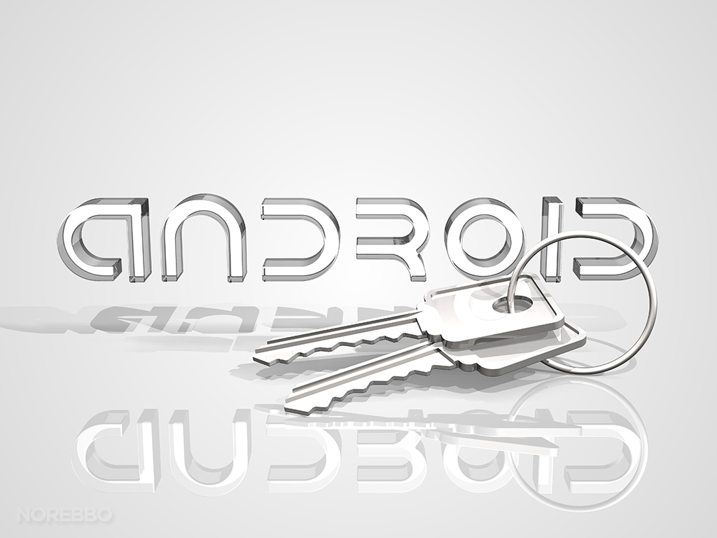 android logo and keys