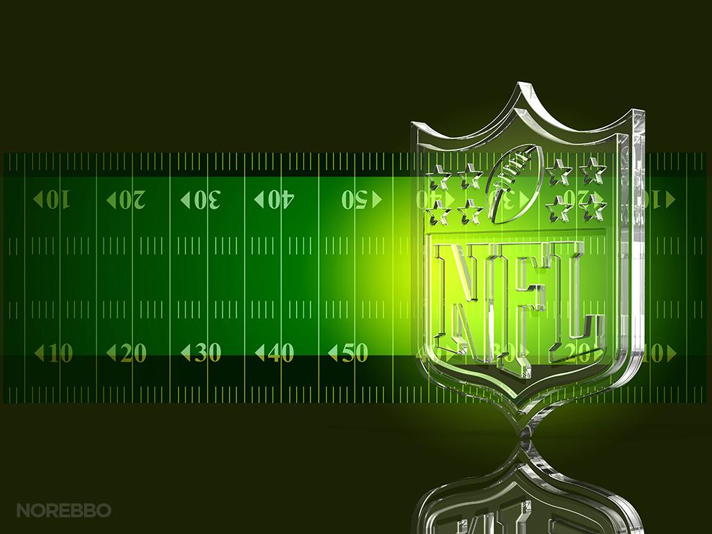 3d glass nfl logo
