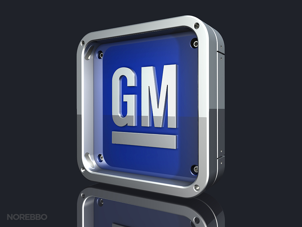 metallic gm logo