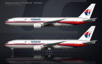 Malaysia Airlines 777-200 side view