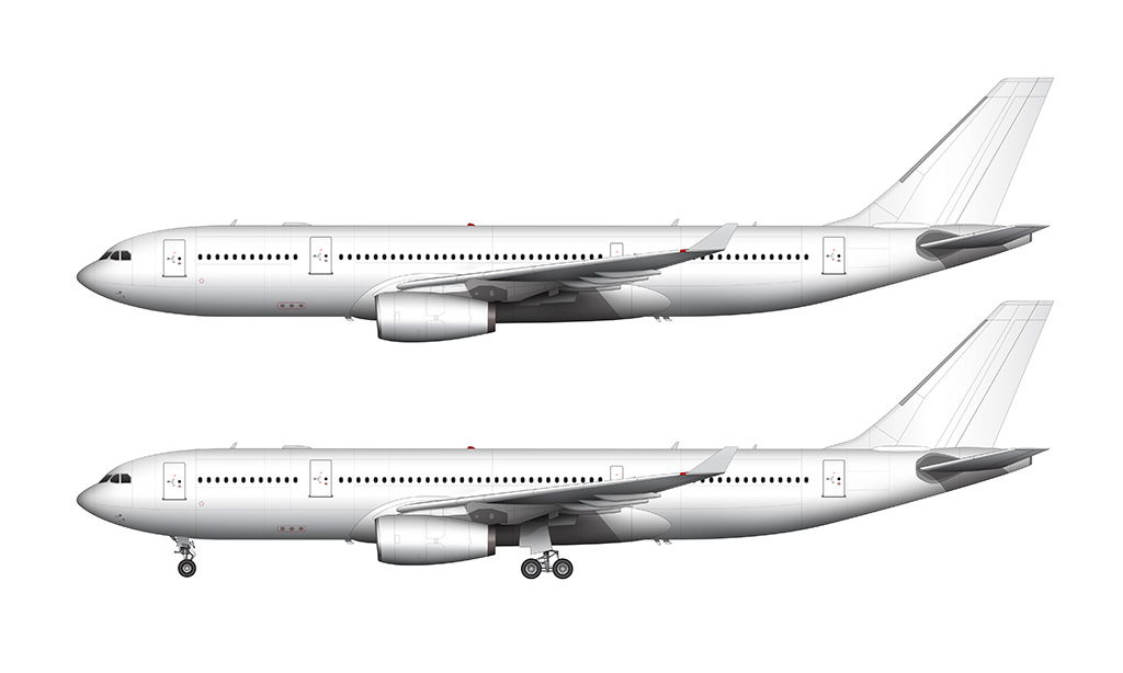 a330 rolls royce engines side view