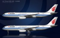 air china a330-200 side view illustration