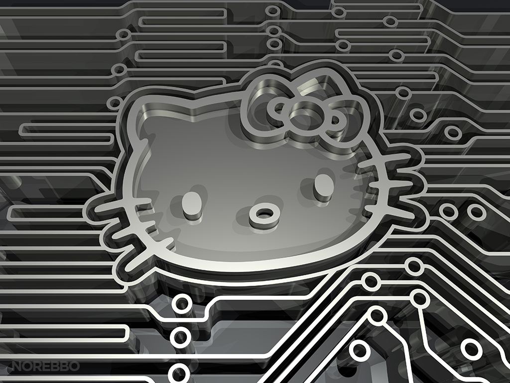 hello kitty electronic circuit board