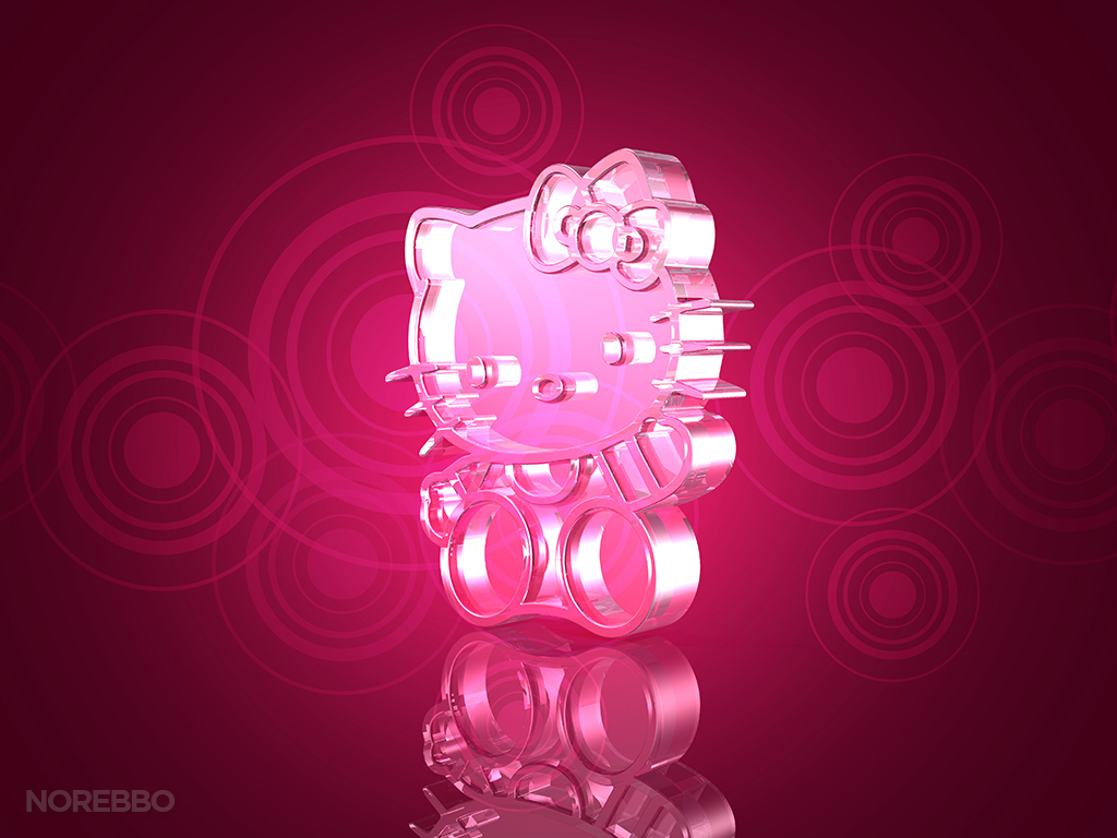 Glowing Hello Kitty