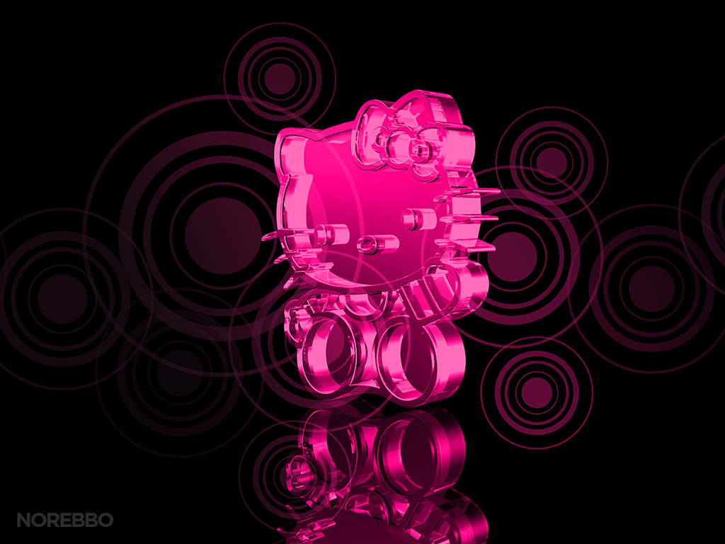 Transparent Pink Hello Kitty Character