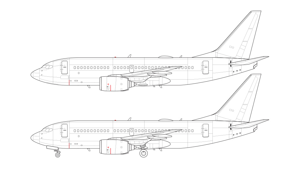 737-700 without winglets blueprint