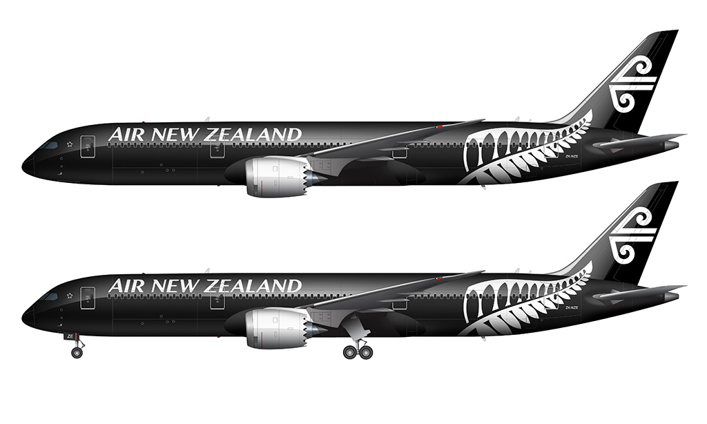 Air New Zealand 787-9 white background