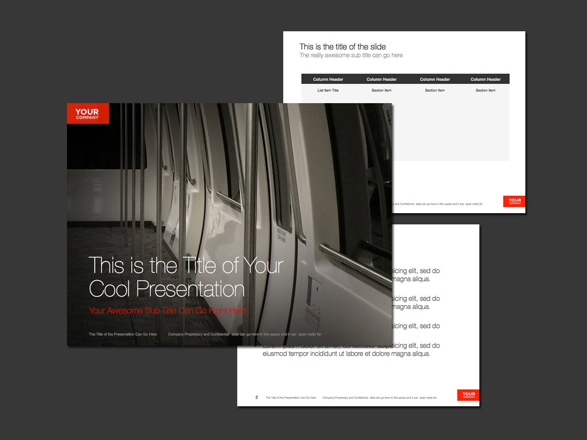 airport train theme for powerpoint – norebbo, Presentation templates