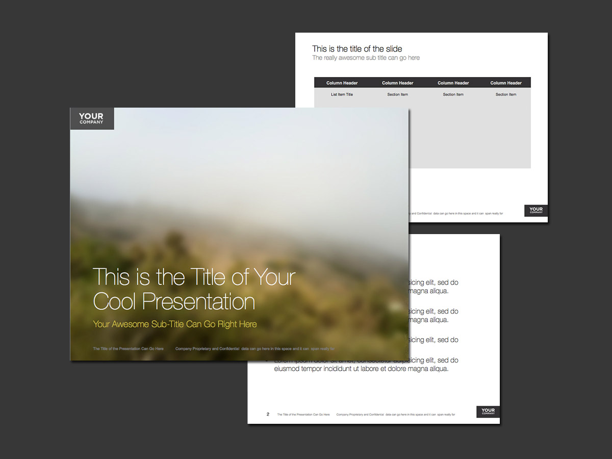 foggy hillside theme for powerpoint
