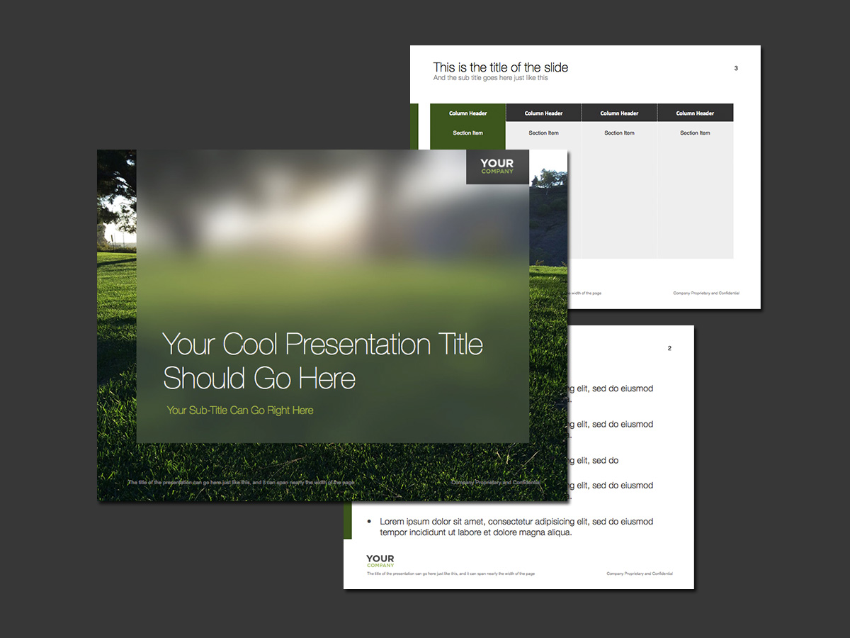 free grassy morning sunrise powerpoint template