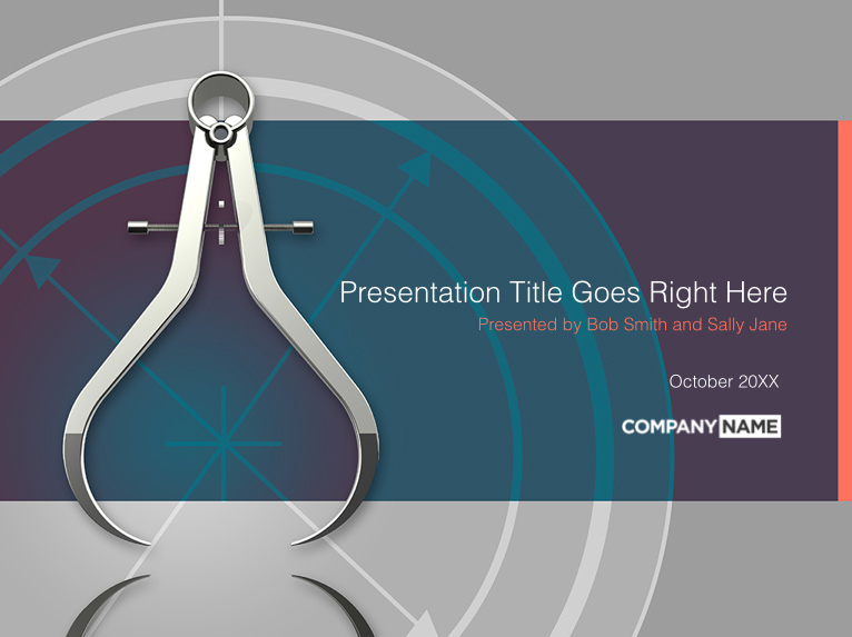 precision calipers presentation templates