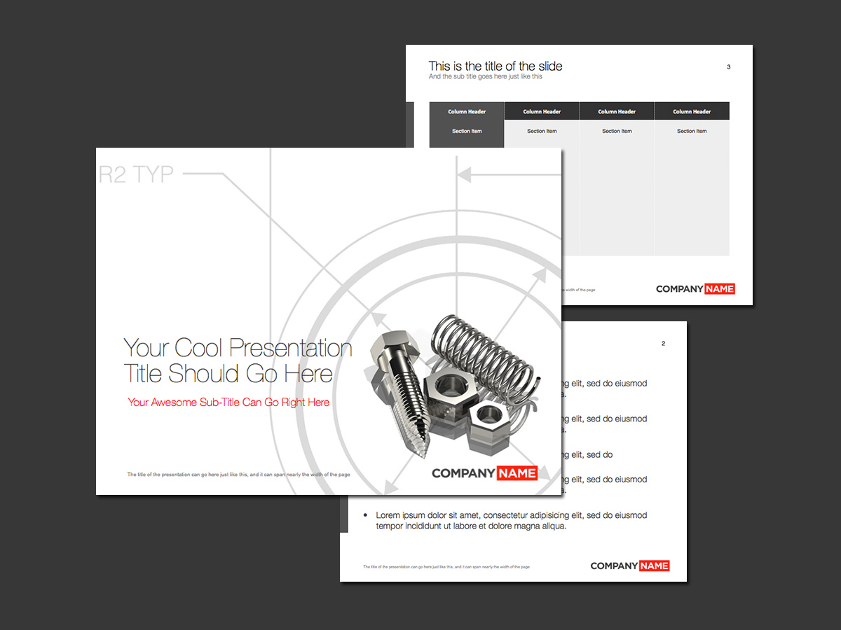 industrial design theme for PowerPoint