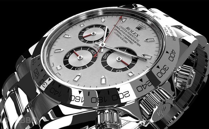 3d rolex watch rendering