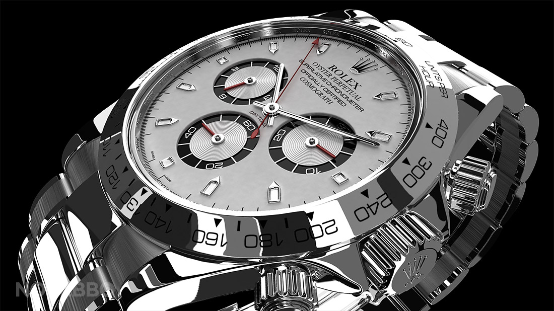 3d rolex watch rendering