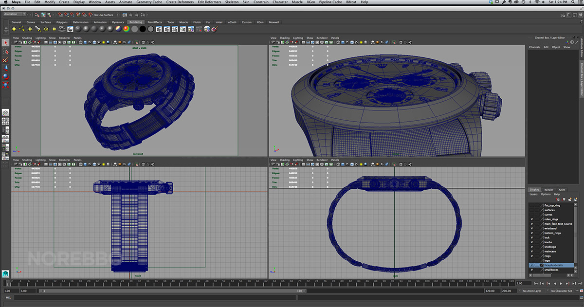 Maya viewport windows