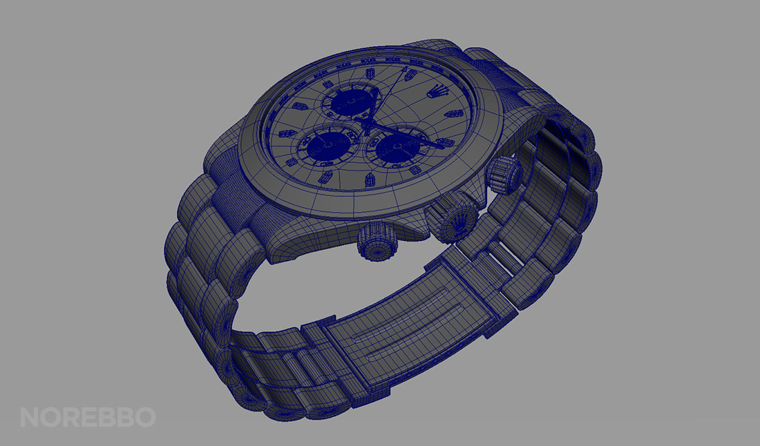 Rolex watch wireframe